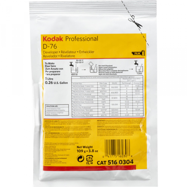 KODAK D-76 - Revelator solid pentru filme alb-negru (1L) [0]