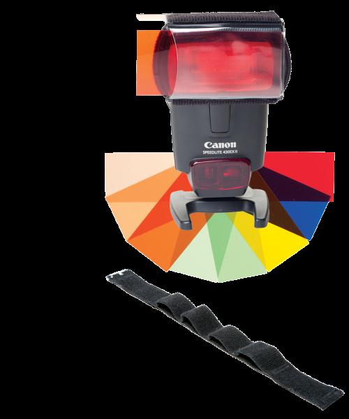 LumiQuest fxtra cu strap (LQ-121A)  - geluri colorate cu UltraStrap 0