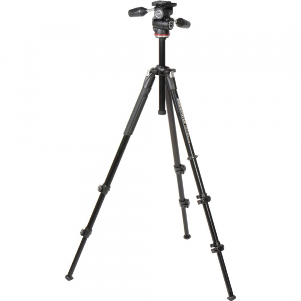 Manfrotto 290 XTRA3-3W , kit trepied foto cu cap 3 way 1