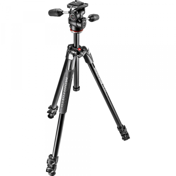 Manfrotto 290 XTRA3-3W , kit trepied foto cu cap 3 way 0