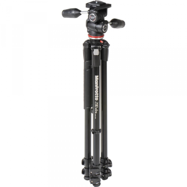 Manfrotto 290 XTRA3-3W , kit trepied foto cu cap 3 way 2