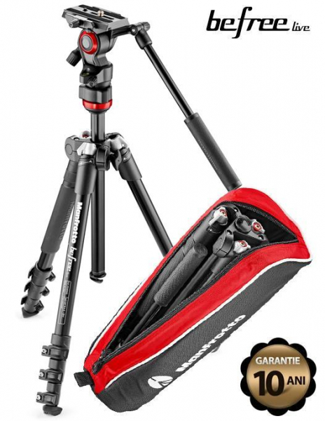 Manfrotto Befree Live MVKBFR-LIVE- kit trepied video 0