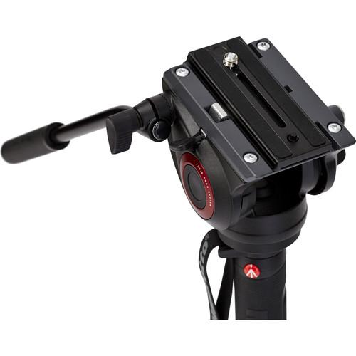 Manfrotto MVMXPRO500 kit monopied video cu baza fluida + cap video [5]