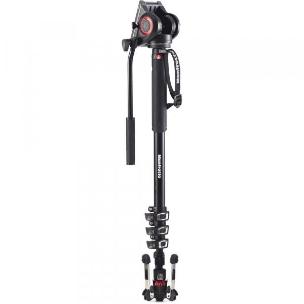 Manfrotto MVMXPRO500 kit monopied video cu baza fluida + cap video [1]