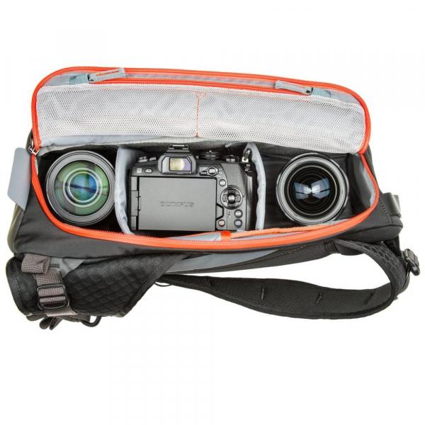 MindShiftGear PhotoCross 10 - Carbon Grey - rucsac cu o singura bretea 8