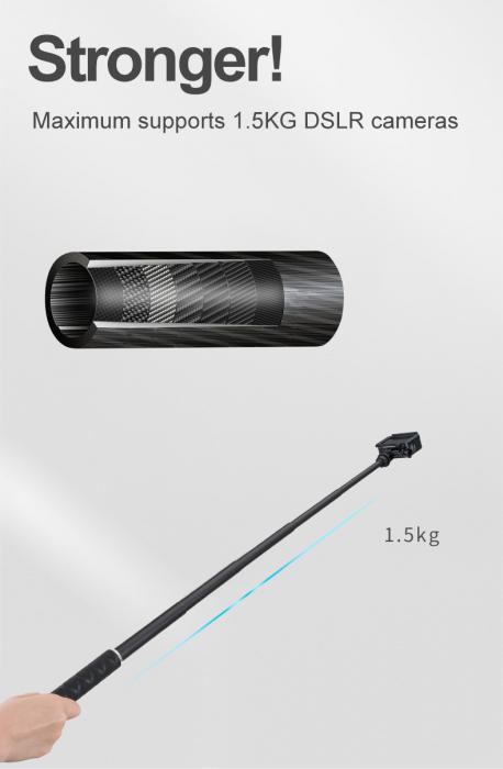 Monopod selfie din fibra de carbon 0.9M pentru Gopro - GP-MNP-90D [3]