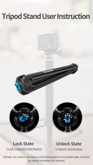 Monopod selfie din fibra de carbon 0.9M pentru Gopro - GP-MNP-90T [7]