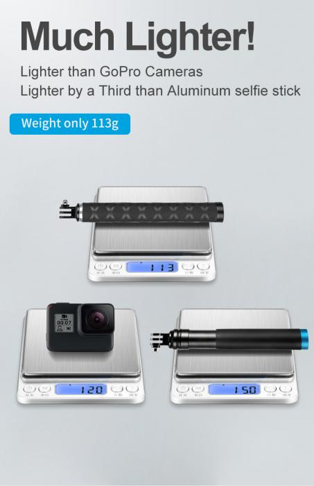 Monopod selfie din fibra de carbon 0.9M pentru Gopro - GP-MNP-90T [2]