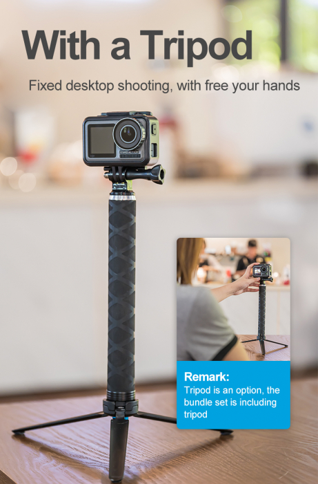 Monopod selfie din fibra de carbon 0.9M pentru Gopro - GP-MNP-90T [6]