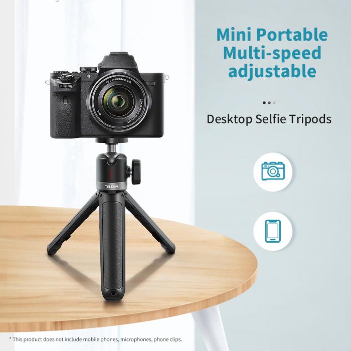 Mini trepied cu selfie stick pentru telefoane mobile și camere DSLR - GP-MNP-091-W [0]