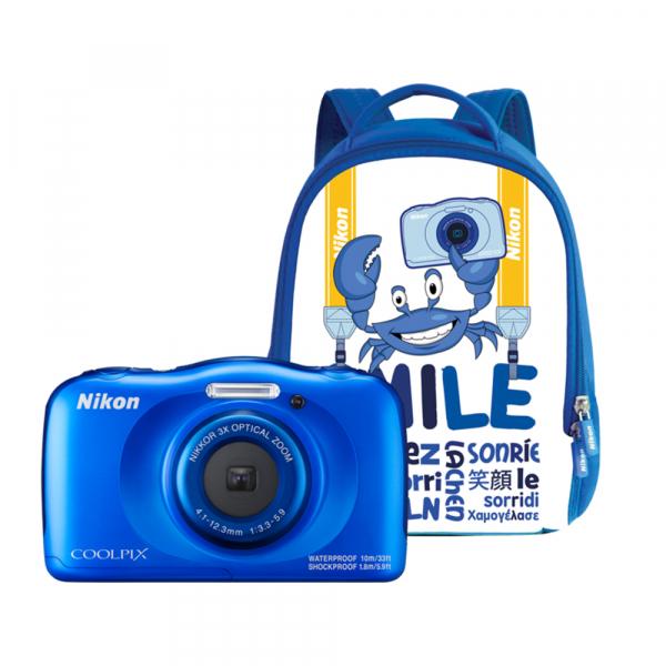 Nikon Coolpix W100 - subacvatic, filmare FHD Kit cu Rucsac -albastru 0
