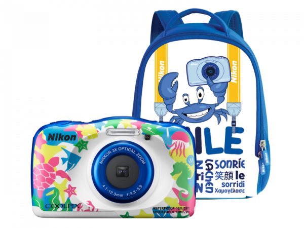 Nikon Coolpix W100 - subacvatic, filmare FHD Kit cu Rucsac -tema marina [0]