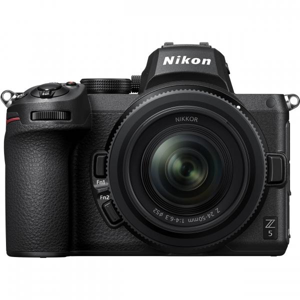 Nikon Z5 Aparat Foto Mirrorless Full Frame 24.3Mpx, Video 4K, Wi-Fi - Kit cu NIKKOR Z 24-50mm f/4-6.3 si Adaptor FTZ 0