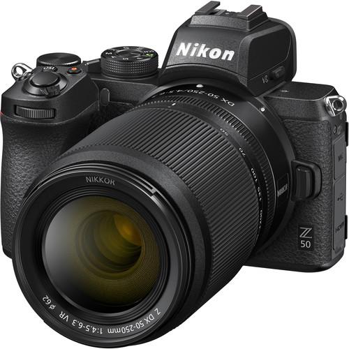 Nikon Z50 + 16-50mm f/3.5-6.3 VR + 50-250mm f/4.5-6.3 VR -  Aparat Foto Mirrorless 4K - Montura Z 1