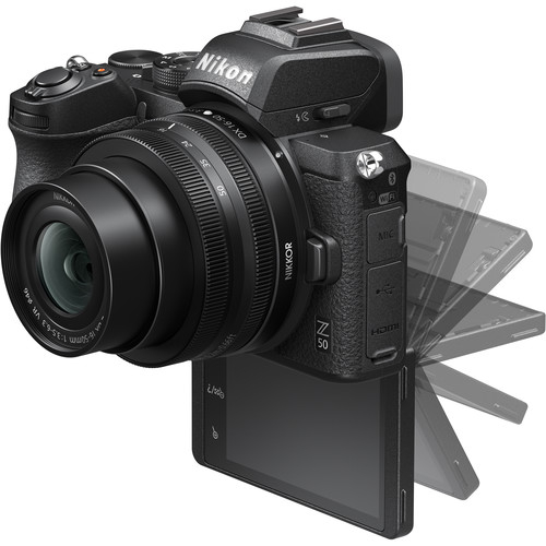 Nikon Z50 + 16-50mm f/3.5-6.3 VR + 50-250mm f/4.5-6.3 VR -  Aparat Foto Mirrorless 4K - Montura Z 5