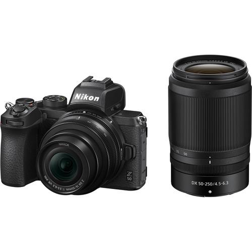 Nikon Z50 + 16-50mm f/3.5-6.3 VR + 50-250mm f/4.5-6.3 VR -  Aparat Foto Mirrorless 4K - Montura Z 0