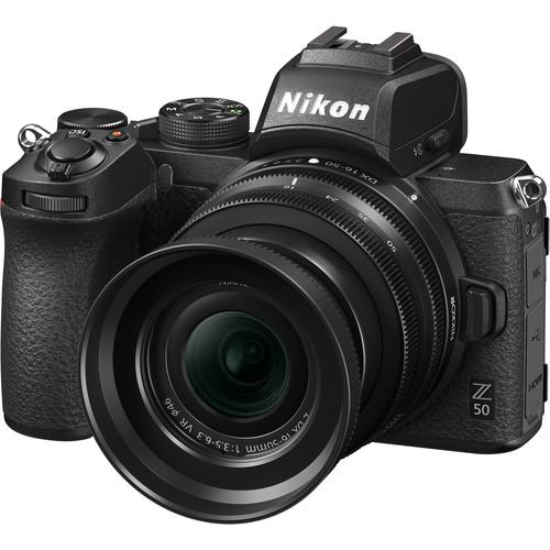 Nikon Z50 + 16-50mm f/3.5-6.3 VR + 50-250mm f/4.5-6.3 VR -  Aparat Foto Mirrorless 4K - Montura Z 6