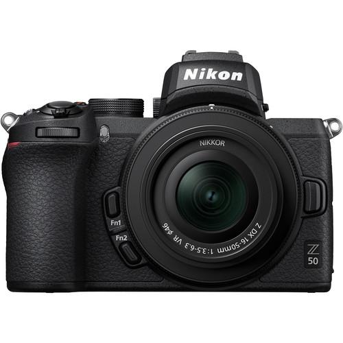 Nikon Z50 + 16-50mm f/3.5-6.3 VR + 50-250mm f/4.5-6.3 VR -  Aparat Foto Mirrorless 4K - Montura Z 2