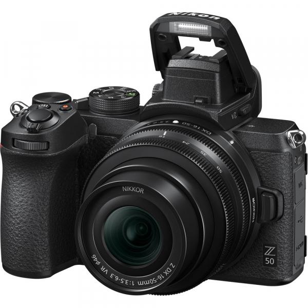 Nikon Z50 + 16-50mm f/3.5-6.3 VR -  Aparat Foto Mirrorless 4K - Montura Z 2