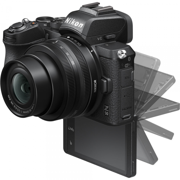Nikon Z50 + 16-50mm f/3.5-6.3 VR -  Aparat Foto Mirrorless 4K - Montura Z 8