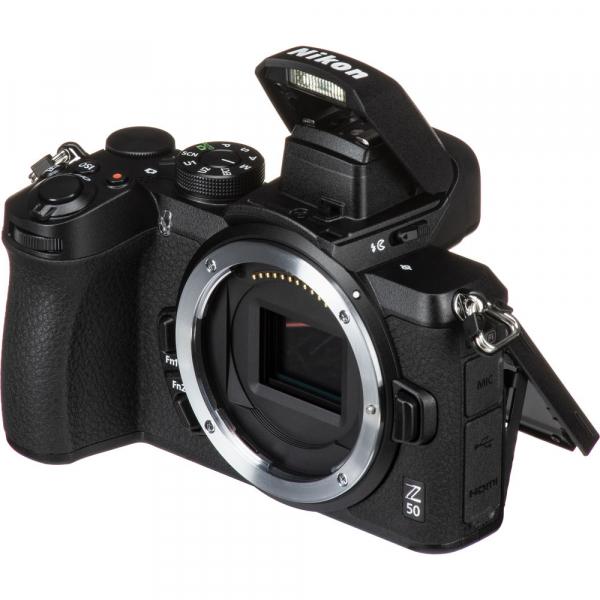 Nikon Z50 Body + adaptor Nikon FTZ,  Aparat Foto Mirrorless 4K - Montura Z 4