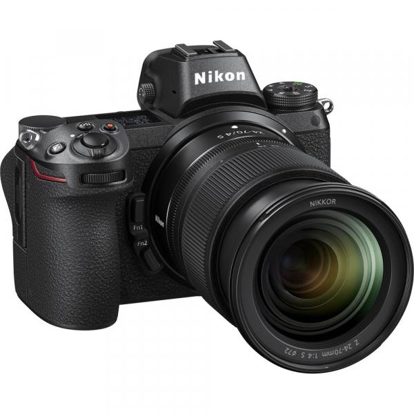 Nikon Z6 kit Nikkor Z 24-70mm f/4 S +adaptor Nikon FTZ, Aparat Foto Mirrorless Full Frame 24.5MP Video 4K  Wi-Fi 6