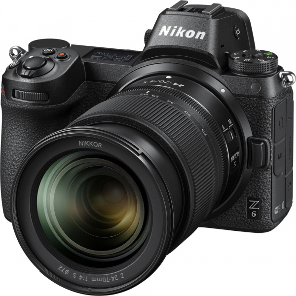 Nikon Z6 kit Nikkor Z 24-70mm f/4 S +adaptor Nikon FTZ, Aparat Foto Mirrorless Full Frame 24.5MP Video 4K  Wi-Fi 3