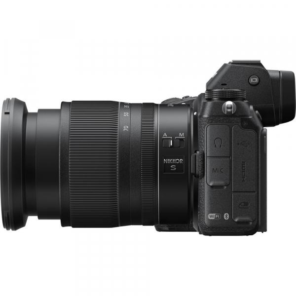 Nikon Z6 kit Nikkor Z 24-70mm f/4 S +adaptor Nikon FTZ, Aparat Foto Mirrorless Full Frame 24.5MP Video 4K  Wi-Fi 10