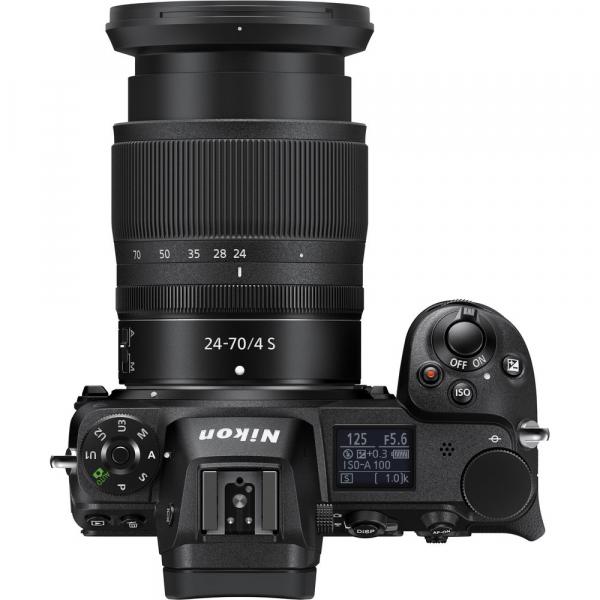 Nikon Z6 kit Nikkor Z 24-70mm f/4 S +adaptor Nikon FTZ, Aparat Foto Mirrorless Full Frame 24.5MP Video 4K  Wi-Fi 5