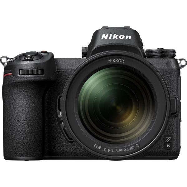Nikon Z6 kit Nikkor Z 24-70mm f/4 S +adaptor Nikon FTZ, Aparat Foto Mirrorless Full Frame 24.5MP Video 4K  Wi-Fi 2