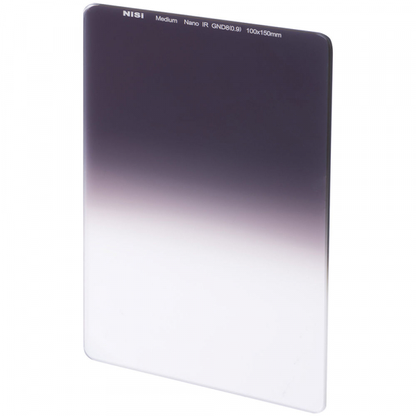 NiSi NANO MEDIUM IR GND8 100x150mm - filtru neutru gradual 0.9 la 0.15 / 3 la 0.5 stopuri 0