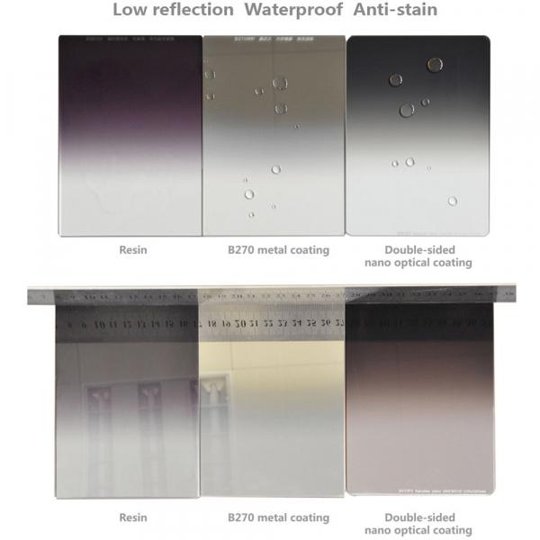 NiSi NANO REVERSE IR GND8 100x150mm - filtru neutru gradual 0.9 la 0.15 / 3 la 0.5 stopuri 7