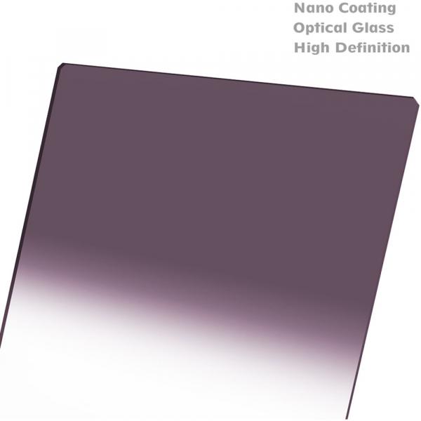 NiSi NANO REVERSE IR GND8 100x150mm - filtru neutru gradual 0.9 la 0.15 / 3 la 0.5 stopuri 5