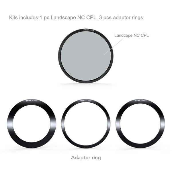 NiSi V5-Pro 100mm system filter holder + kit filtru NC Landscape CPL 86mm + adaptoare 82,77,72,67mm 1