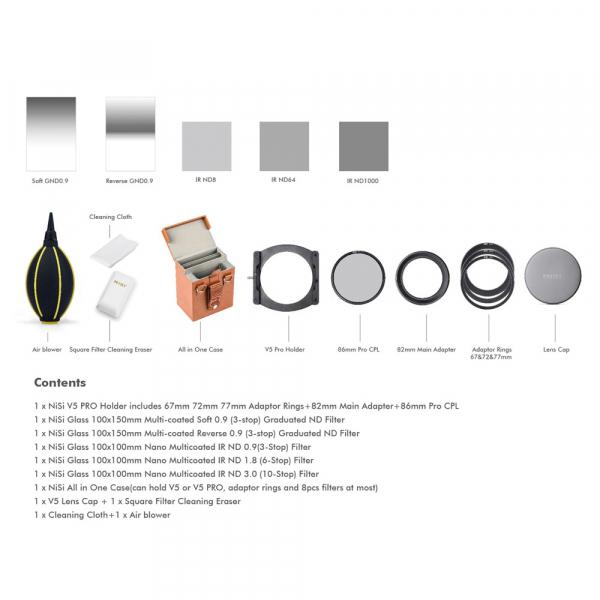 NiSi V5-Pro Advance Filter Kit II 100mm - kit filtre 1