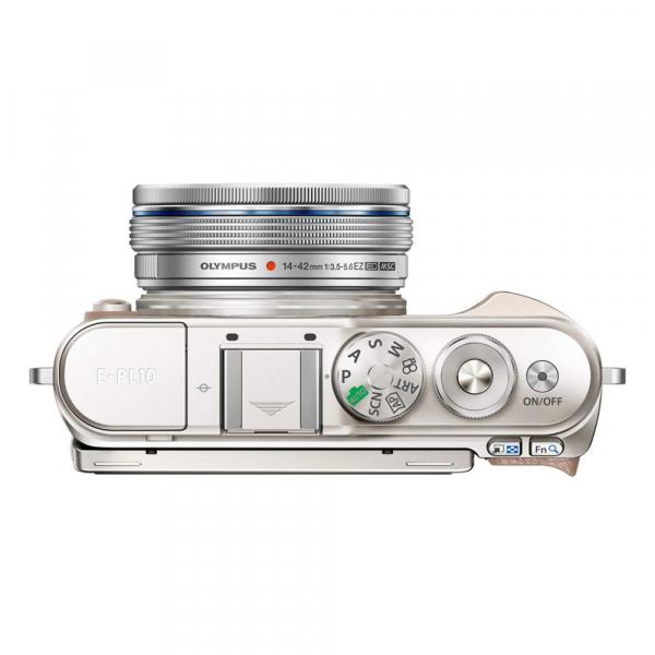 Olympus E-PL10 alb + EZ-M14-42 EZ Pancake argintiu 4