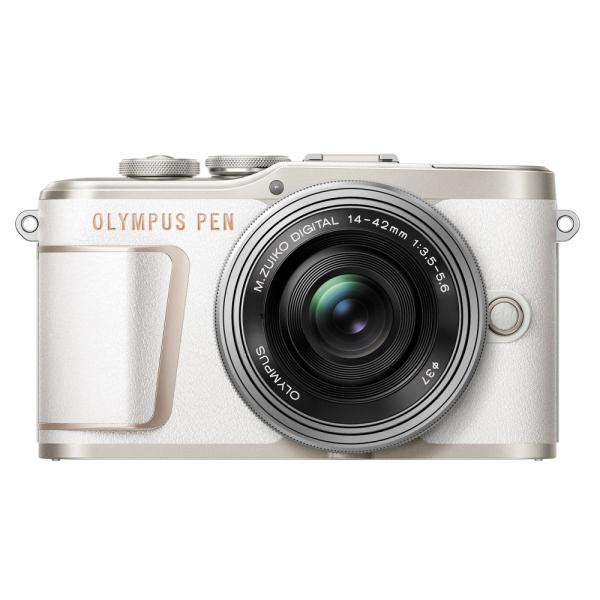 Olympus E-PL10 alb + EZ-M14-42 EZ Pancake argintiu 0