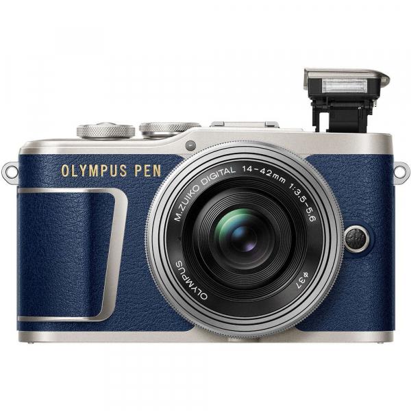 Olympus E-PL9 albastru + EZ-M14-42 EZ Pancake argintiu 4