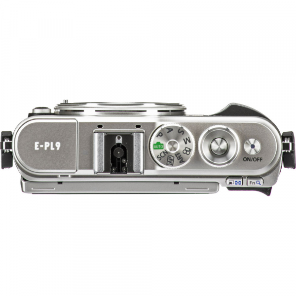 Olympus E-PL9 albastru + EZ-M14-42 EZ Pancake argintiu 8