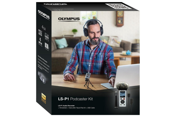 Olympus LS-P1 Video Kit - reportofon  Videogapher Kit inc Windscreen, Hot Shoe Adapter, 3.5mm Audio Cable and 8GB micro SD card [8]