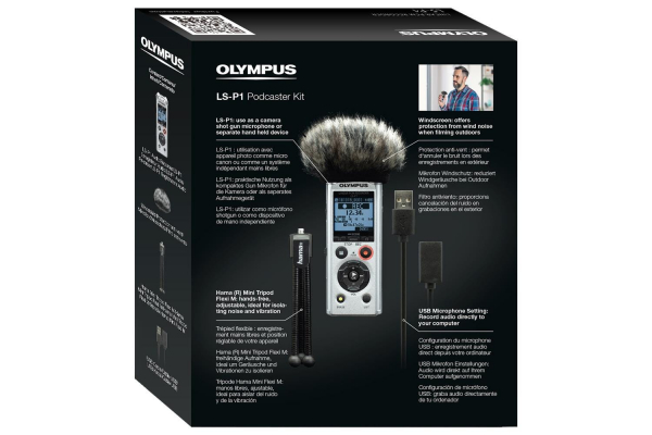 Olympus LS-P1 Video Kit - reportofon  Videogapher Kit inc Windscreen, Hot Shoe Adapter, 3.5mm Audio Cable and 8GB micro SD card [6]