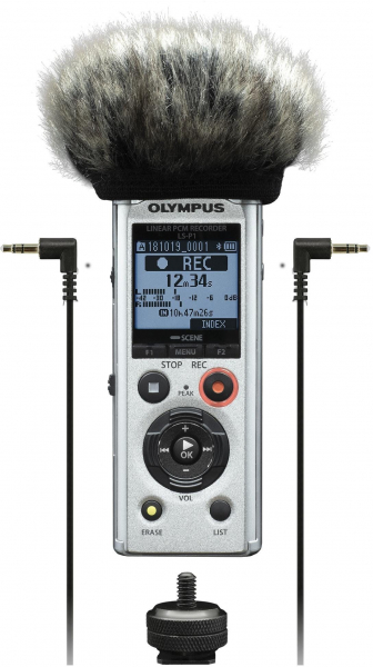 Olympus LS-P1 Video Kit - reportofon  Videogapher Kit inc Windscreen, Hot Shoe Adapter, 3.5mm Audio Cable and 8GB micro SD card [0]