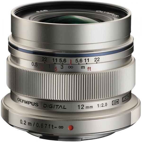 Olympus M.ZUIKO  ED 12mm f/2.0 , silver 0