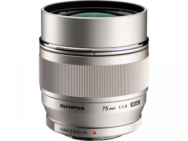 Olympus M.ZUIKO ED 75mm f/1.8 MSC ,  silver 0