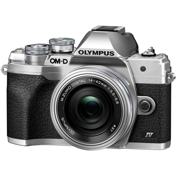 Olympus OM-D E-M10 Mark IV Silver Kit cu 14-42mm F3.5-5.6 EZ silver 0