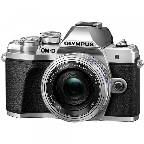 Olympus OM-D E-M10 Mark III kit Olympus 14-42mm EZ Pancake argintiu [0]