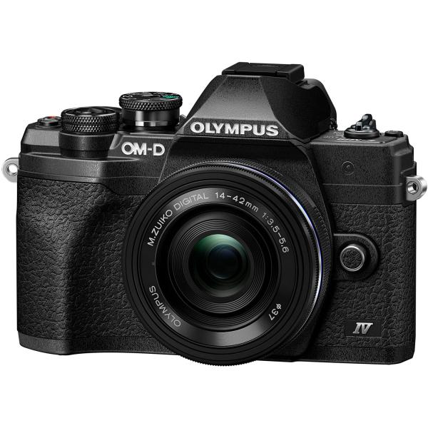 Olympus OM-D E-M10 Mark IV Mirrorless Black Kit cu M.Zuiko ED 14-42mm F3.5-5.6 EZ black + M.Zuiko ED 40-150mm F4.0-5.6 R black [1]