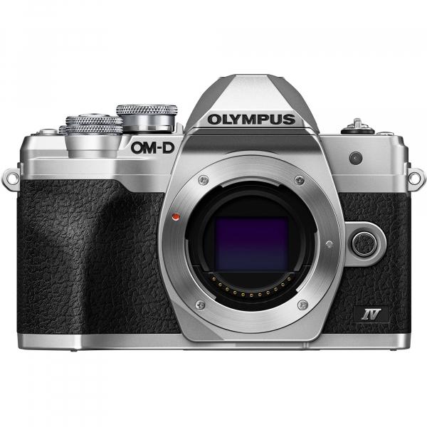 Olympus OM-D E-M10 Mark IV Silver Kit cu 14-42mm F3.5-5.6 EZ silver 1