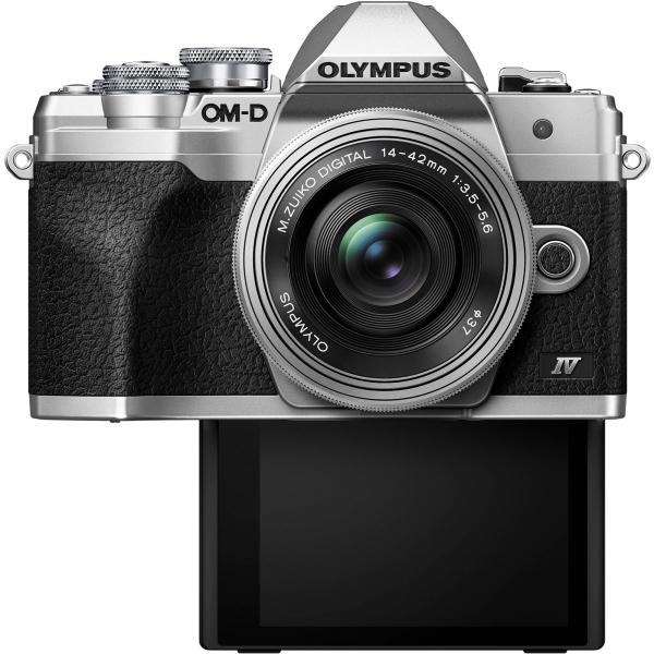 Olympus OM-D E-M10 Mark IV Silver Kit cu 14-42mm F3.5-5.6 EZ silver 3