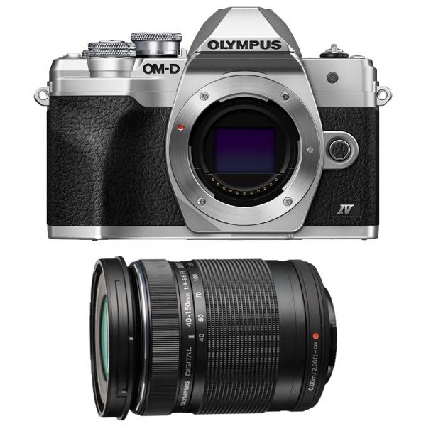Olympus OM-D E-M10 Mark IV Aparat Mirrorless Silver Kit cu M.Zuiko Digital 14-150mm F4.0-5.6 II black [0]